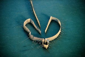 Fish trap, Kuwait - Yann Arthus-Bertrand Photography