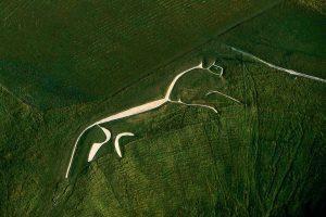 White horse, England - Yann Arthus-Bertrand Photography