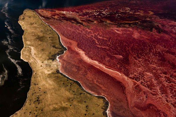 Lake Magadi, Kenya - Yann Arthus-Bertrand Photo