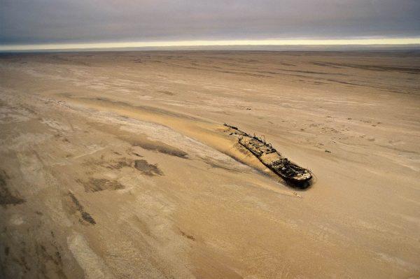 Edouard Bohlen boat, Namibia - Yann Arthus-Bertrand Photo